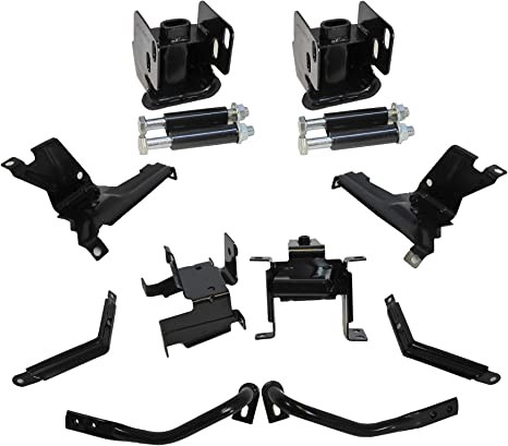 Bumper Bracket Set of 2 Front Right and Left Side Steel compatible with Sierra P//U 07-13 Outer New Body Style