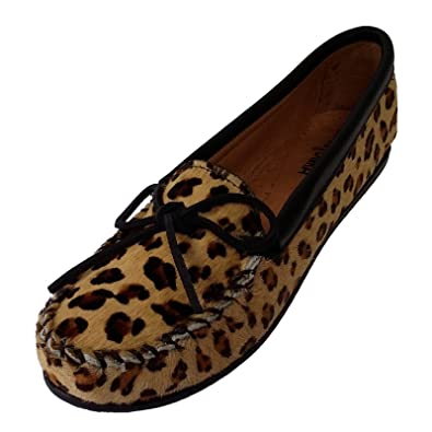 Minnetonka - Mocasines de Piel Mujer, (- Leo Muster), 37,5: Amazon.es: Zapatos y complementos
