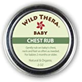 Wild Thera Baby Chest Rub Balm. Herbal Organic Solution for sniffles, Congestion, Sinus, Allergies & runny Nose. Gentle…