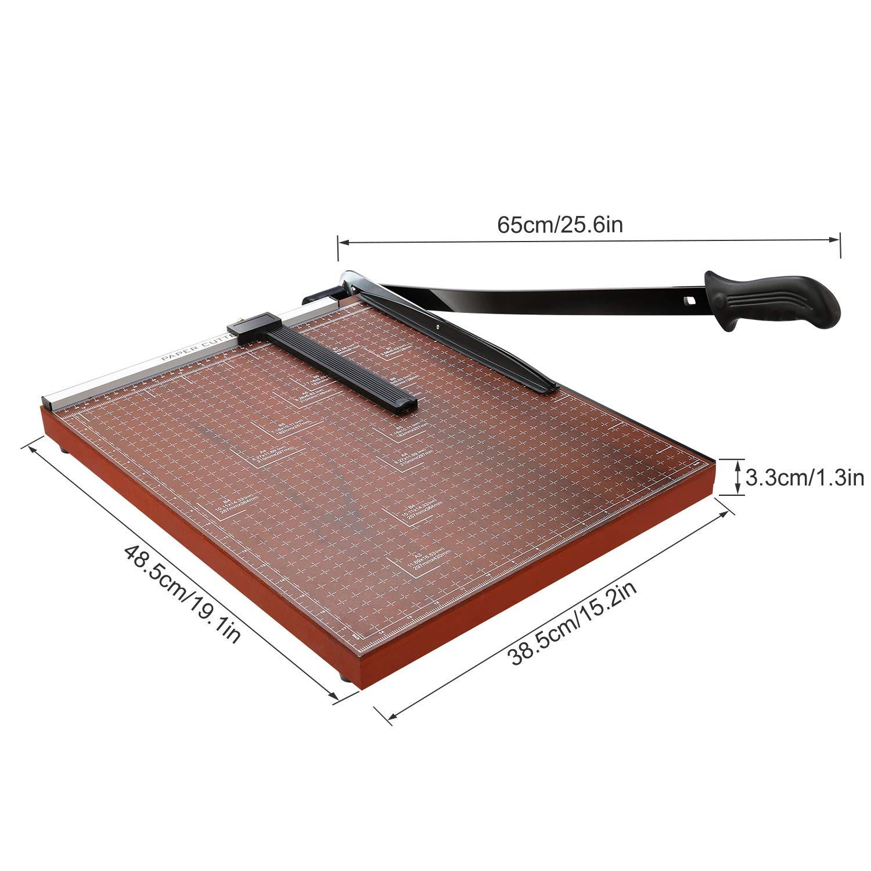 Etikett und Foto Papierschneider Hebelschneider f/ür Gutschein 12 Blatt Bastelpapier Lichire Papierschneidemaschine A3