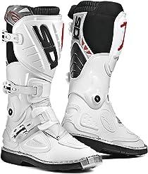Sidi Stinger Youth Kids MX Boots (White, 2.5/34)