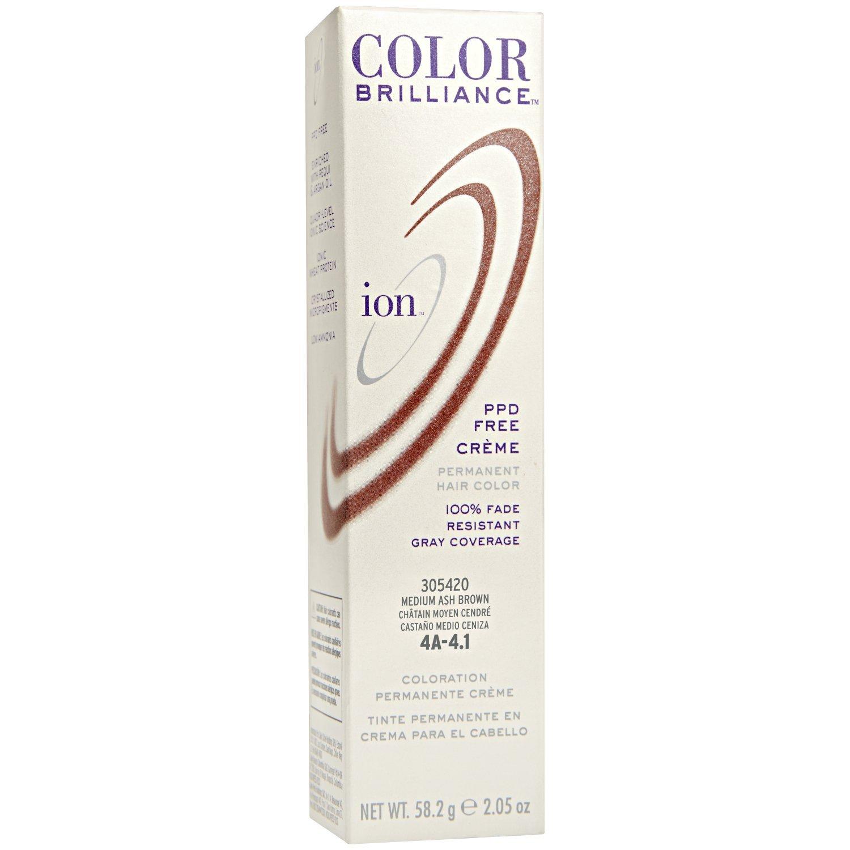 Amazon.com : Ion 4A Medium Ash Brown Permanent Creme Hair Color 4A ...