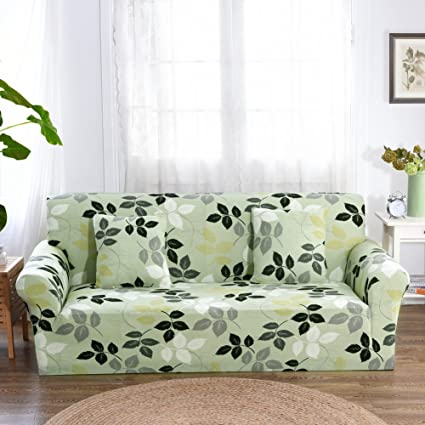 FORCHEER 1 Piece Stretch Sofa Slipcover Couch Covers Printed Spandex Fabric  Sofa Cover Protector (