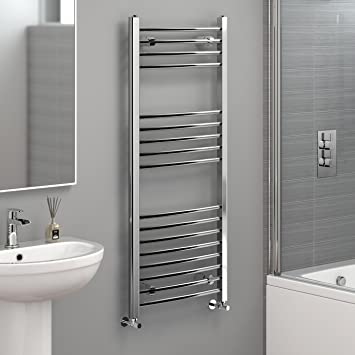 Perfect IBathUK | 1200 X 500 Curved Heated Towel Rail Chrome Bathroom Radiator    All Sizes