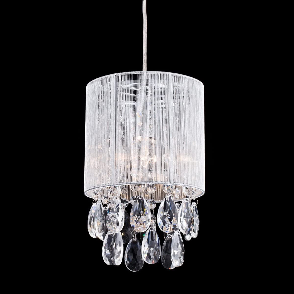 Dazhuan Modern Crystal Drops Pendant Ceiling Lighting Chandelier Lamp Hanging Light