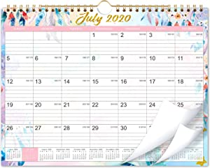 "Calendar 2020-2021 - 18 Months Wall Calendar 2020-2021 with Julian Date, 11""x 8.5"", Jul 2020-Dec 2021, Wire-Bound, Colorful Monthly Calendar, Perfect for School, Office & Home Planning & Organizing"