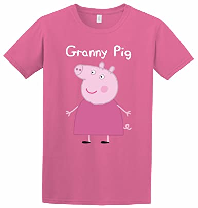3433f9cfa SMARTYPANTS Granny Pig Mothers Day Peppa Pig Printed Funny Gift Inspired T- Shirt (Medium, Pink): Amazon.co.uk: Clothing