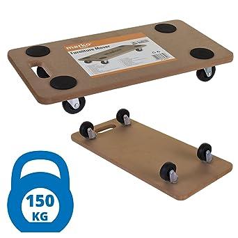 Marko herramientas para desplazar muebles Heavy Duty carrito de tablero DM resistente ruedas Dolly Carro Plataforma