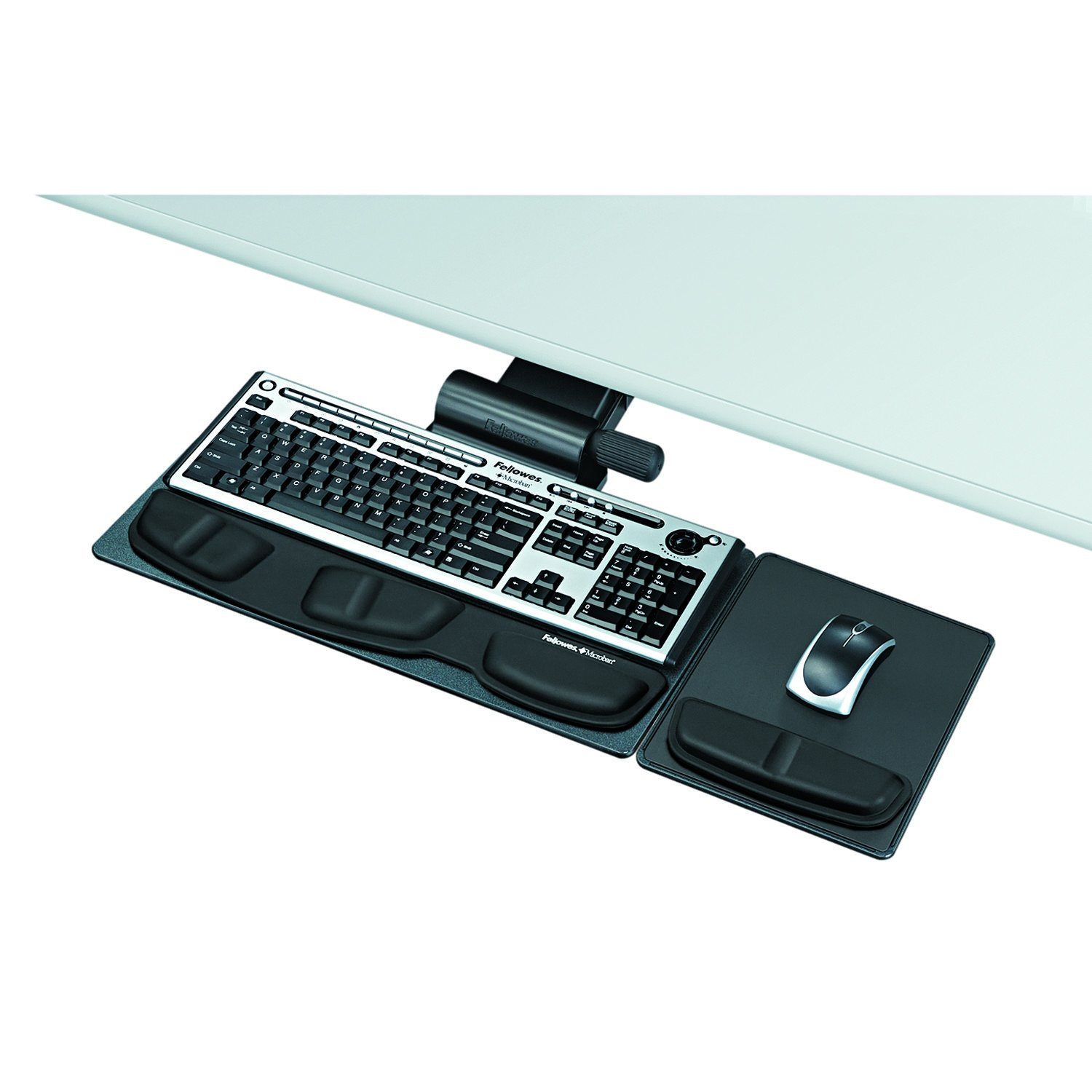 Fellowes 8036001 Professional Premier Series Adjustable Keyboard Tray, 19w x 10-5/8d, Black