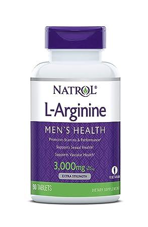 Natrol - L-Arginina 3000 mg Promueve El Rendimiento Físico y La Estamina 90 Comprimidos: Amazon.es: Salud y cuidado personal
