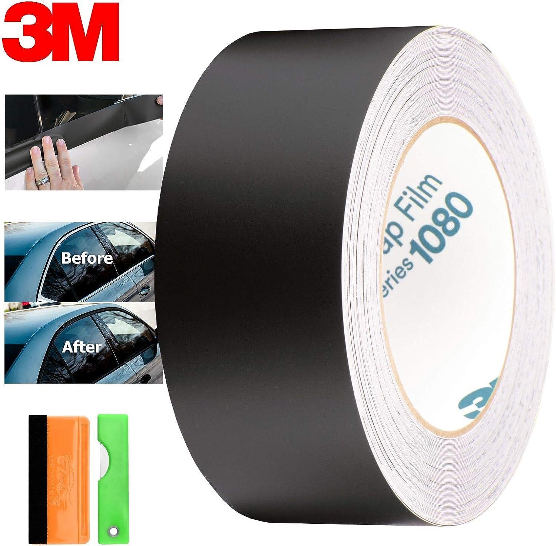 EZAUTOWRAP Free Tool Kit 3M 1080 2080 Gloss Black Vinyl Wrap Kit for Black Out Chrome Delete Window Trim Door Trim 4 x50Ft