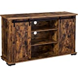 VASAGLE TV Stand with Sliding Barn Doors for 60-Inch TVs, Rustic TV Cabinet with Storage, Entertainment Center Console…