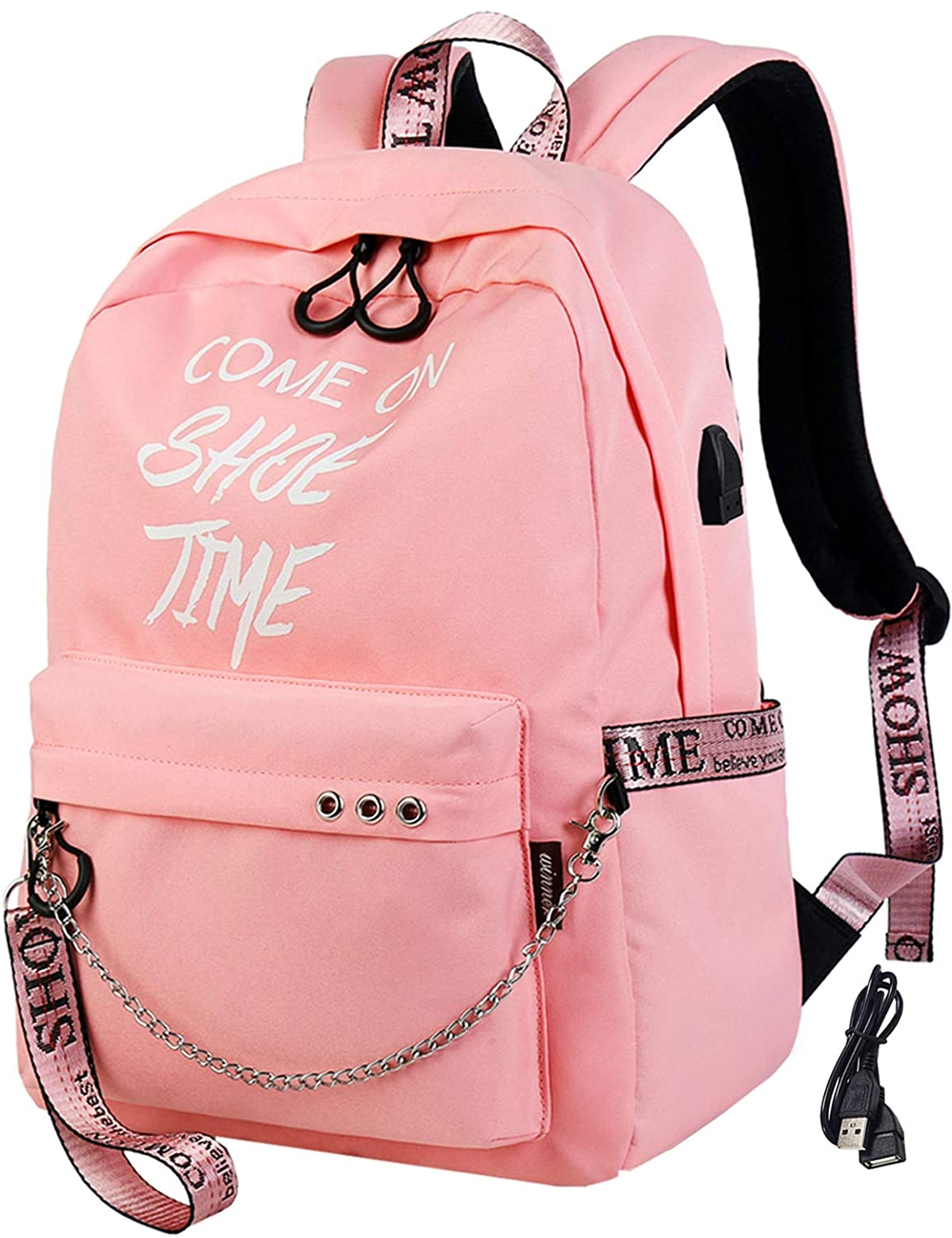 a6785c2759e4 El-fmly Fashion Luminous Backpack with USB Port,College School Bags  Backpacks Girls Denim Cute Bookbags Student Backpack School Laptop Backpack  Bag ...
