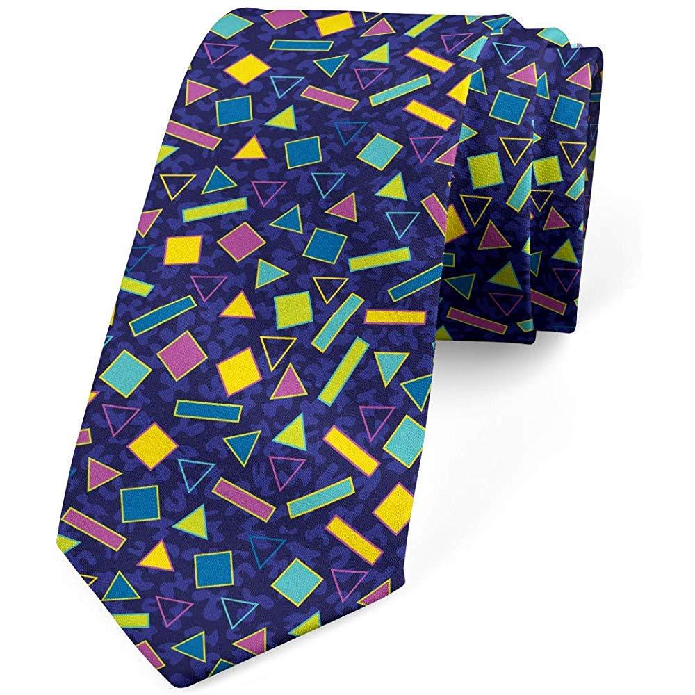 Corbata para hombre, 80 Memphis Fashion Retro, turquesa púrpura ...