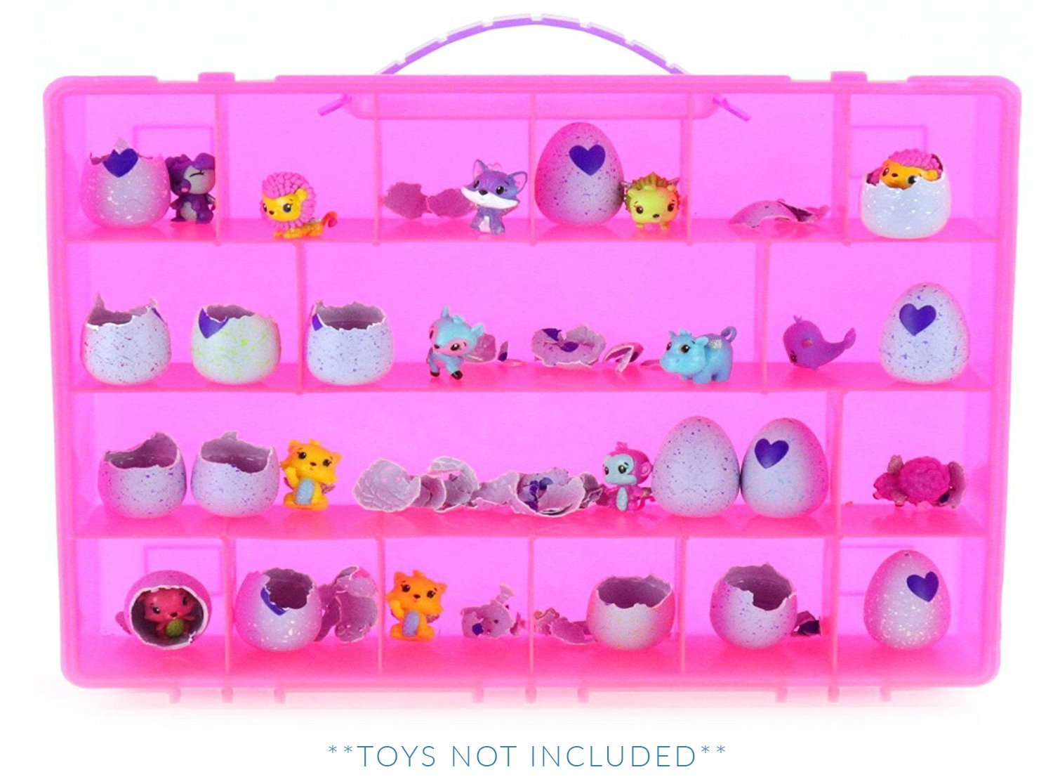 Life Made Better My Egg Crate Storage Organizer compatible the Hatchimals Hatchimal Colleggtibles brands - Durable Carrying Case Mini Eggs, Easter Eggs & Speckled Eggs – Pink LMB66