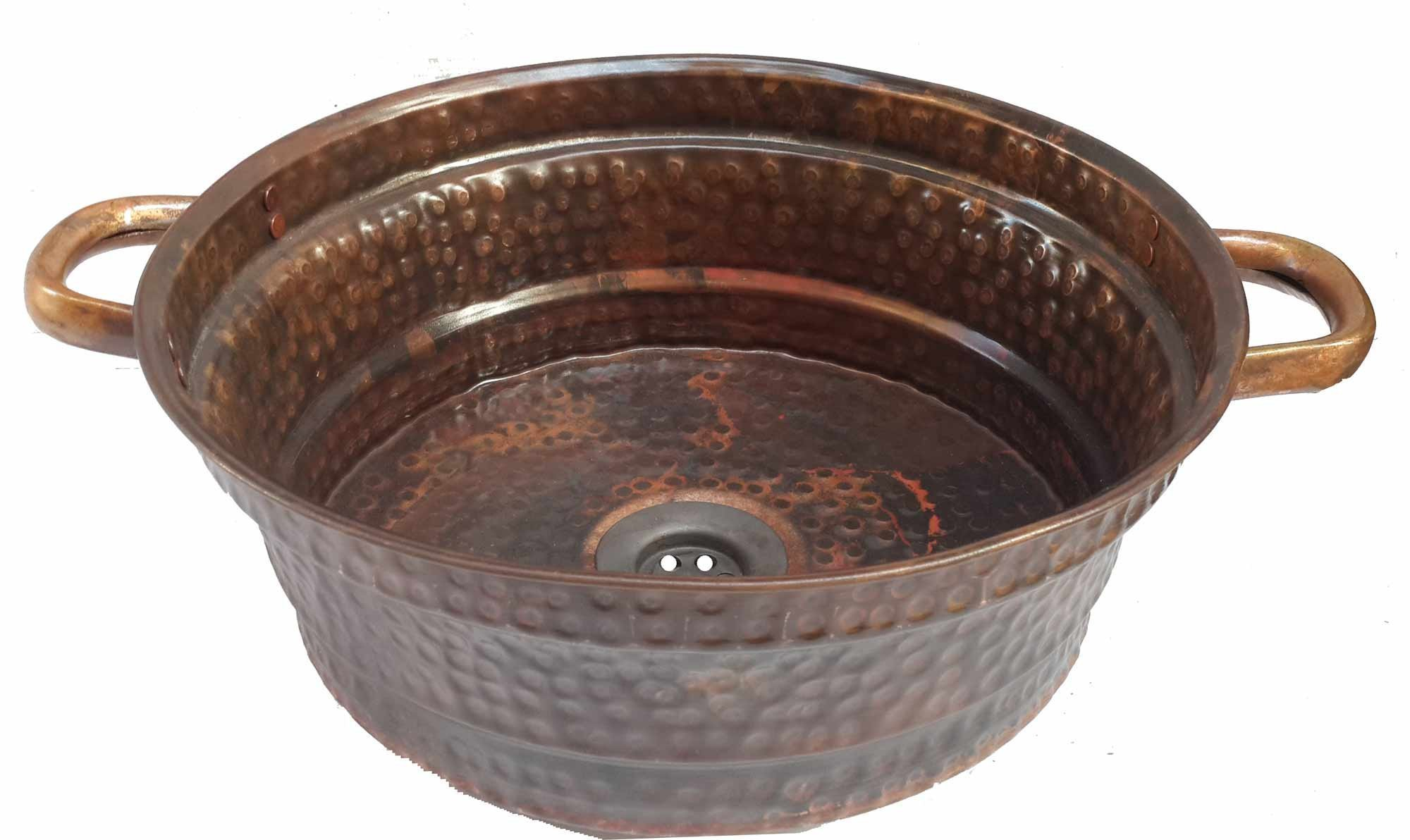 Egypt gift shops Lacquer Vessel Copper Bathroom Sink by Egypt Gift Shops