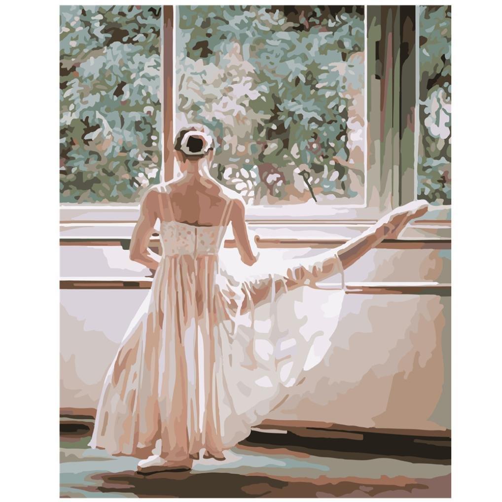 Oil Painting Jamicy/® 16 20 Zoll DIY /Ölgem/älde Farbe Home Wandkunst Bild F/ür Wohnzimmer Einzigartiges Geschenk Ballett Thema A