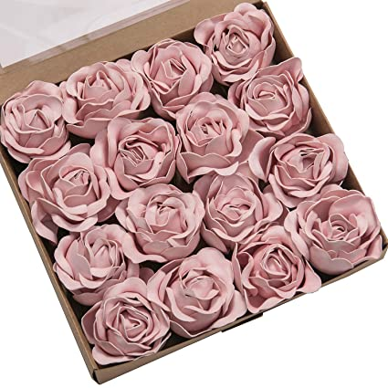 Amazon lings moment real touch artificial rose flower 16pcs lings moment real touch artificial rose flower 16pcs baby pink peonies real looking fake peony w mightylinksfo