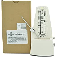ZhangSheng C510 Mechanical Metronome for Loud Sound Piano Drum Violin Guitar Bass, Track Tempo and Beat (Ivory white)