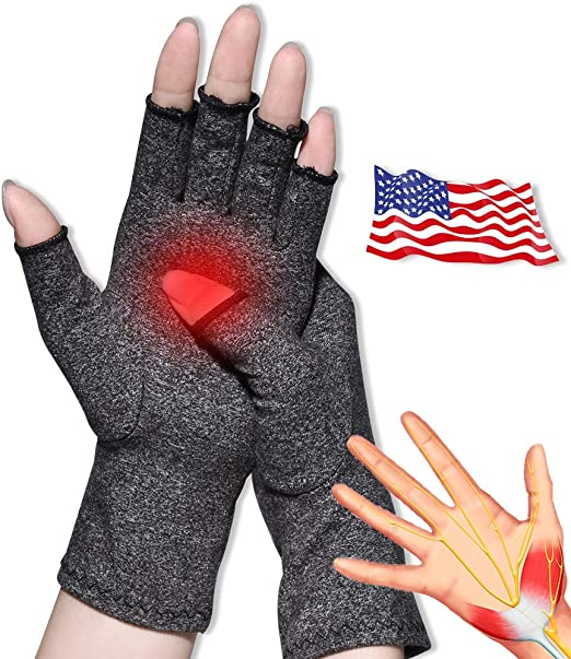 xue binghualoll 1 Paar Arthritis-Handschuhe,Rheumatische Arthritis Kompressionshandschuhe,Premium-Kompressions und Fingerlose Handschuhe zum Tippen und f/ür die t/ägliche Arbeit