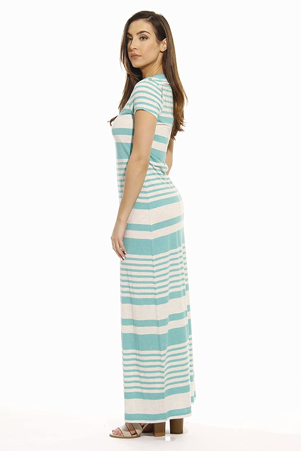 5d1ab2927f89 Just Love Short Sleeve Maxi Dress Summer Dresses at Amazon Women s Clothing  store