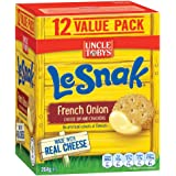 UNCLE TOBYS Le Snak French Onion Dip & Crackers Value, 1 box of 12, 264g