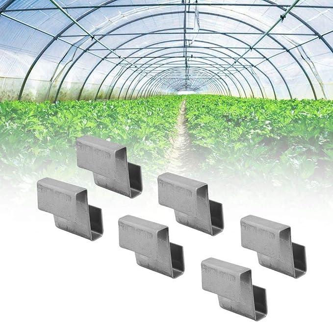 Serra IN ACCIAIO INOX VETRO Z sovrapposizione Vetri Riparazione Clip di Fissaggio x 100