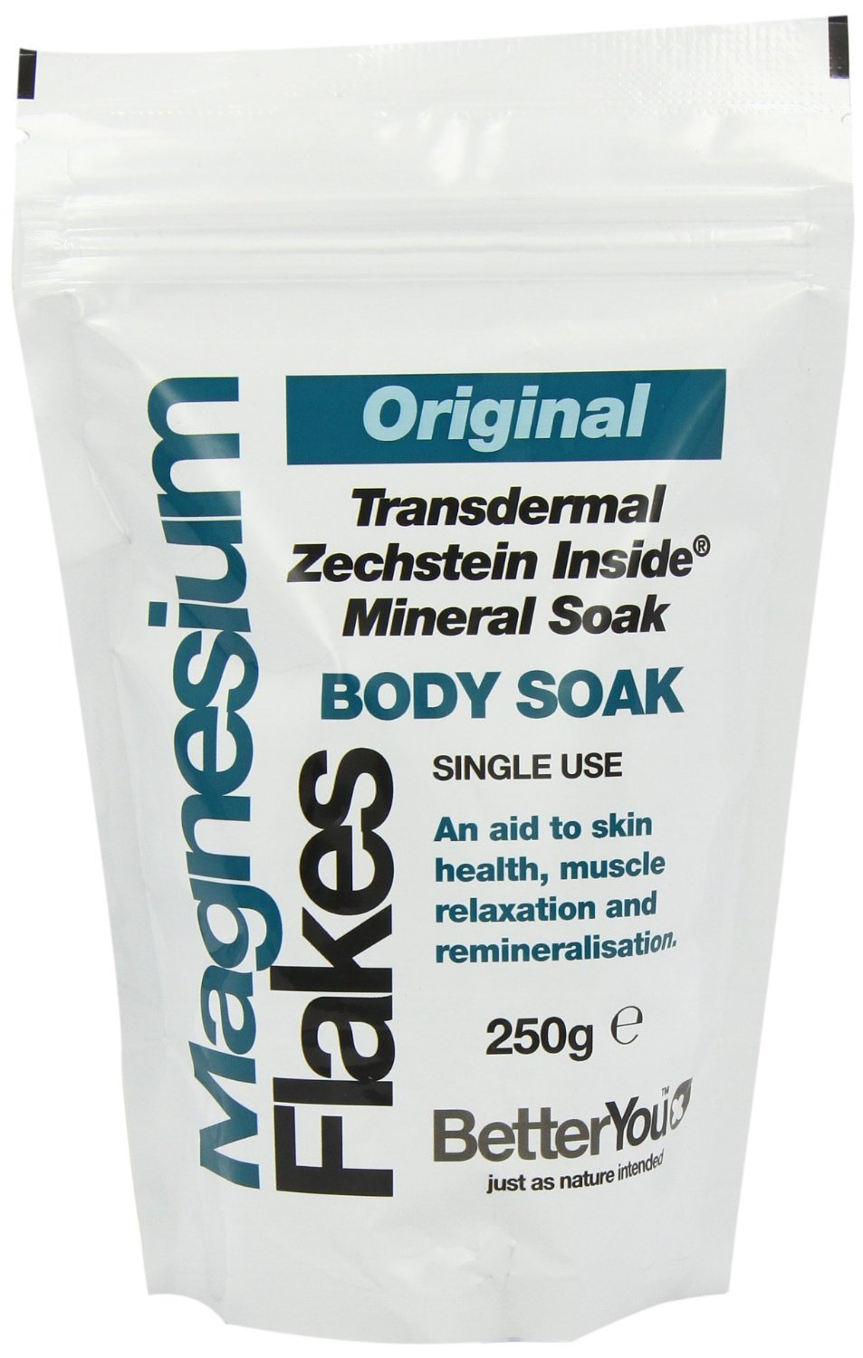 (6 PACK) - BetterYou - Magnesium Flakes Body Soak | 250g | 6 PACK BUNDLE