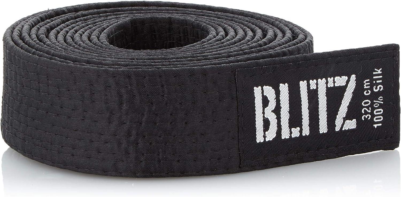 Blitz Sport Ceinture Noire Standard en Soie Noir Noir