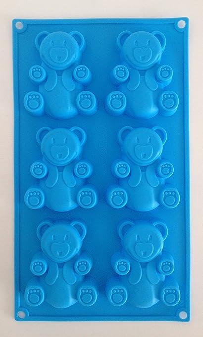 Molde formas oso moldes de silicona para pasteles yeso-Velas de jabón