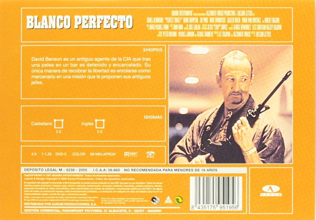 Amazon.com: Perfect Targer (Blanco Perfecto) [ NON-USA FORMAT, PAL, Reg.2 Import - Spain ]: Daniel Bernhardt, Robert Englund, Julieta Rosen, ...