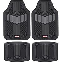 $22 » Motor Trend MTX101 Gray DualFlex Two-Tone Rubber Car Floor Mats for Automotive SUV Van…