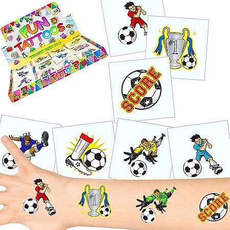12 x Tatouages temporaires avec des Motifs Football┃Tatouages eph/ém/ères┃ lanniversaire denfant┃id/ée Cadeau┃ Winner┃Cup ┃12 pcs German Trendseller/®