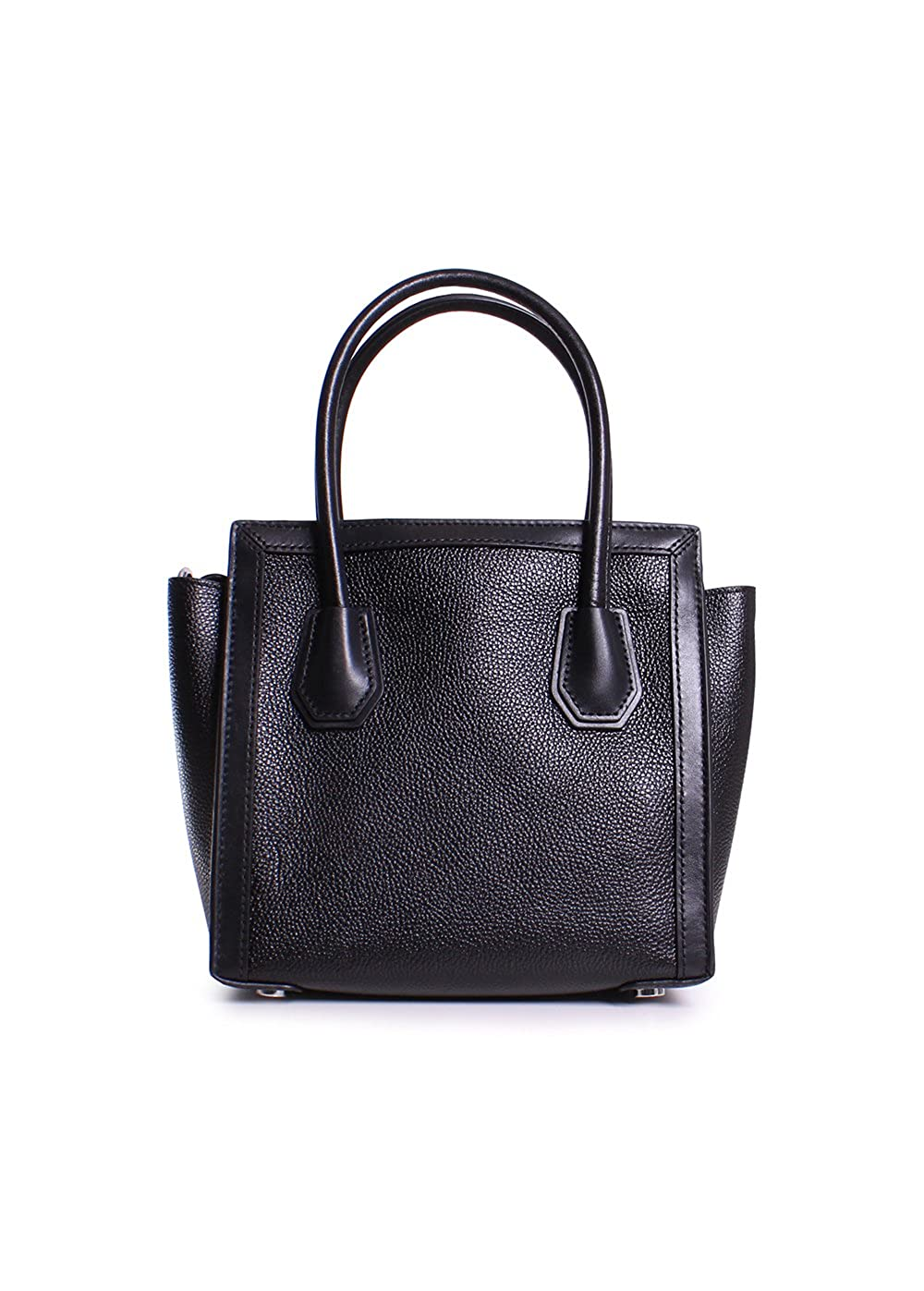 2508d1712b09 Michael Michael Kors Mercer Studio Patent Leather Medium Woven Messenger  Handbag in Black  Handbags  Amazon.com