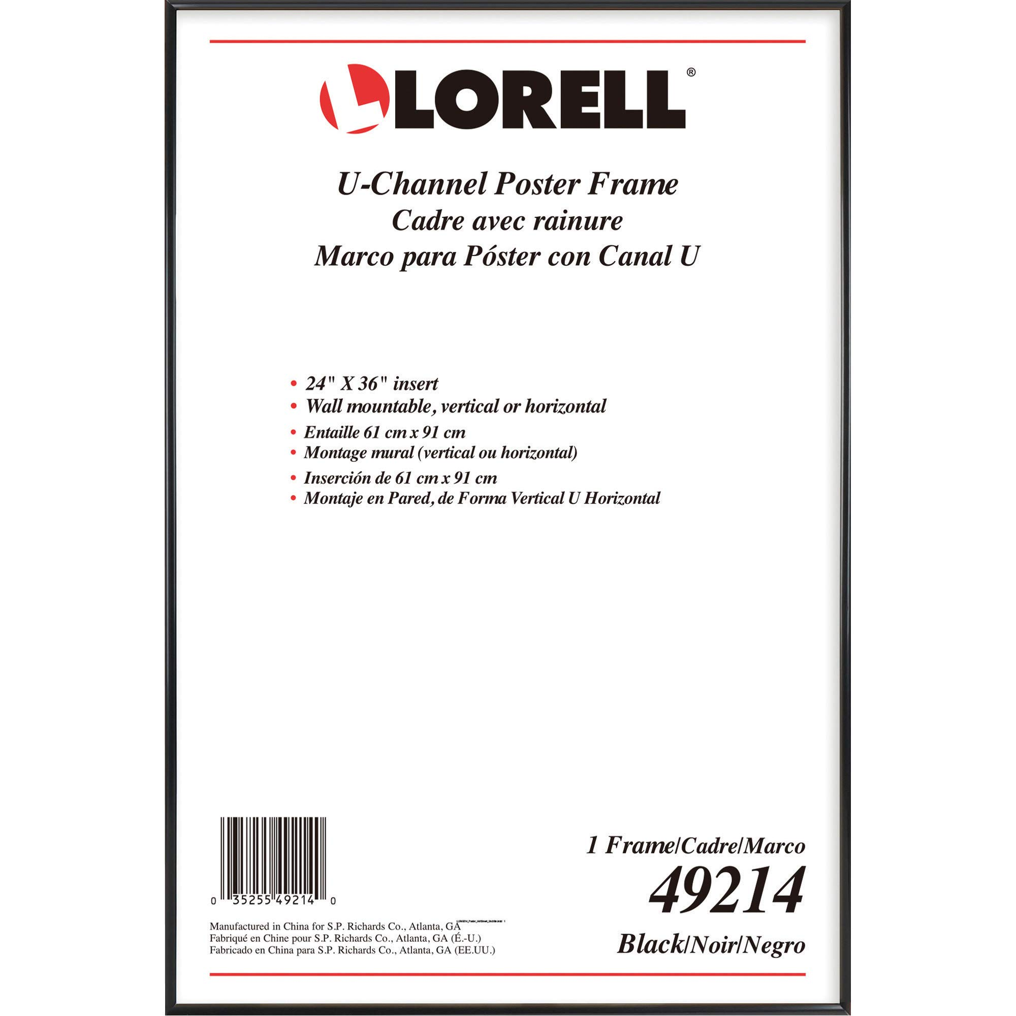 Lorell Stylish Poster Frame, 24'' x 36'' (49214) by Lorell