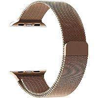 ساعة ميلانيزي لوب لساعة أبل 42 مم / 44 مم ، سوار إستبدال آيواتش من الفولاذ المقاوم للصدأ - ذهبي