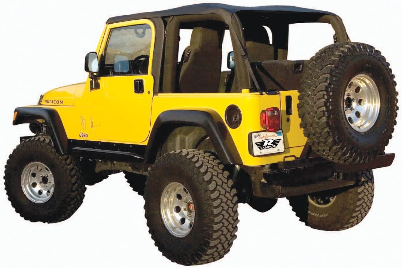 RAMPAGE产品为1997-2006吉普牧马人TJ无框Trail Top