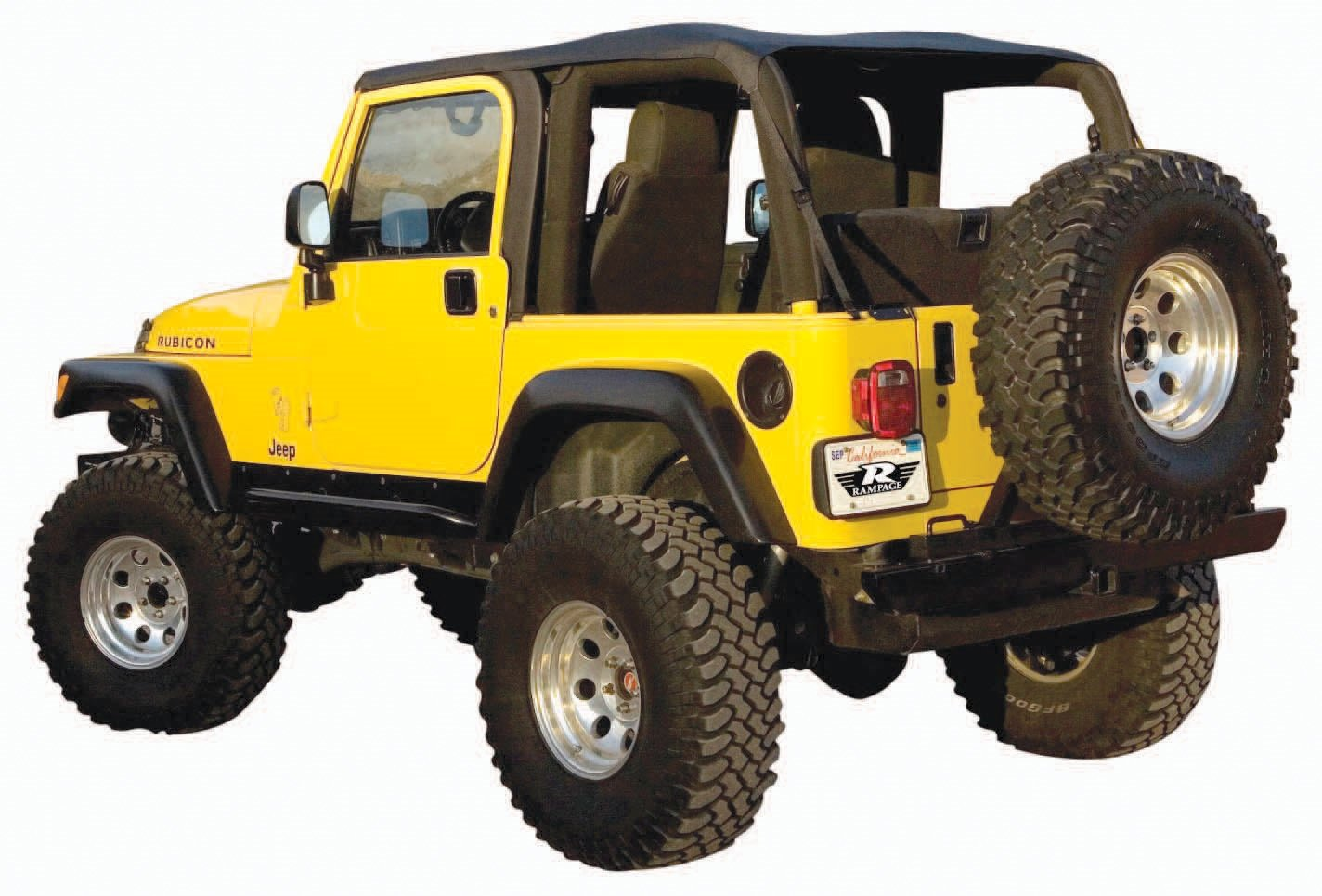 Amazon.com: Rampage Products 109535 Trail Top - Frameless/Bowless TJ ...