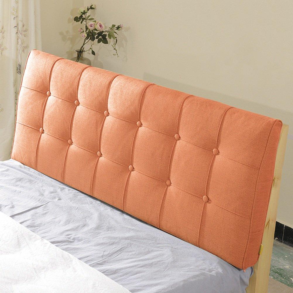 LIANGJUN 腰部パッド ヘッドボードクッション リネン生地 枕 回復力のある 壁 ベッドバックレスト 耐摩耗性 9サイズ、 2種類可、 7色 ( 色 : 6#-With headboard , サイズ さいず : 100X60cm ) B07C1WD5JT