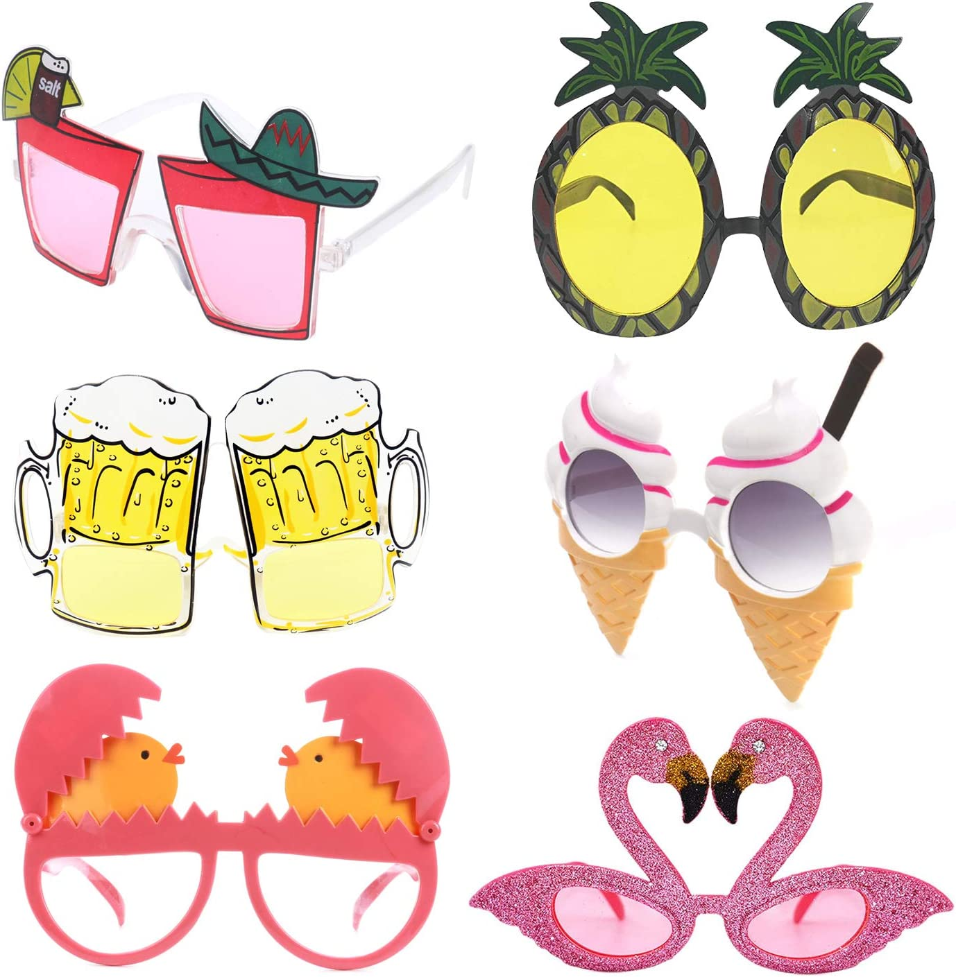 Hawaiian Novelty Sunglasses Beer Glasses Goggles for Costume Fancy Party