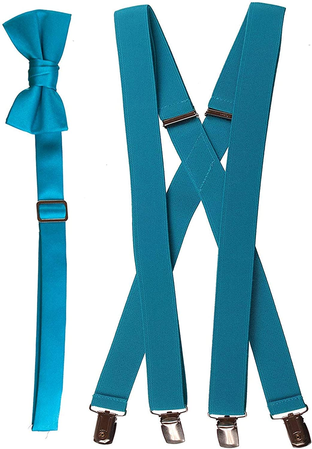 Boy/'s Teal Bow Tie and Suspenders