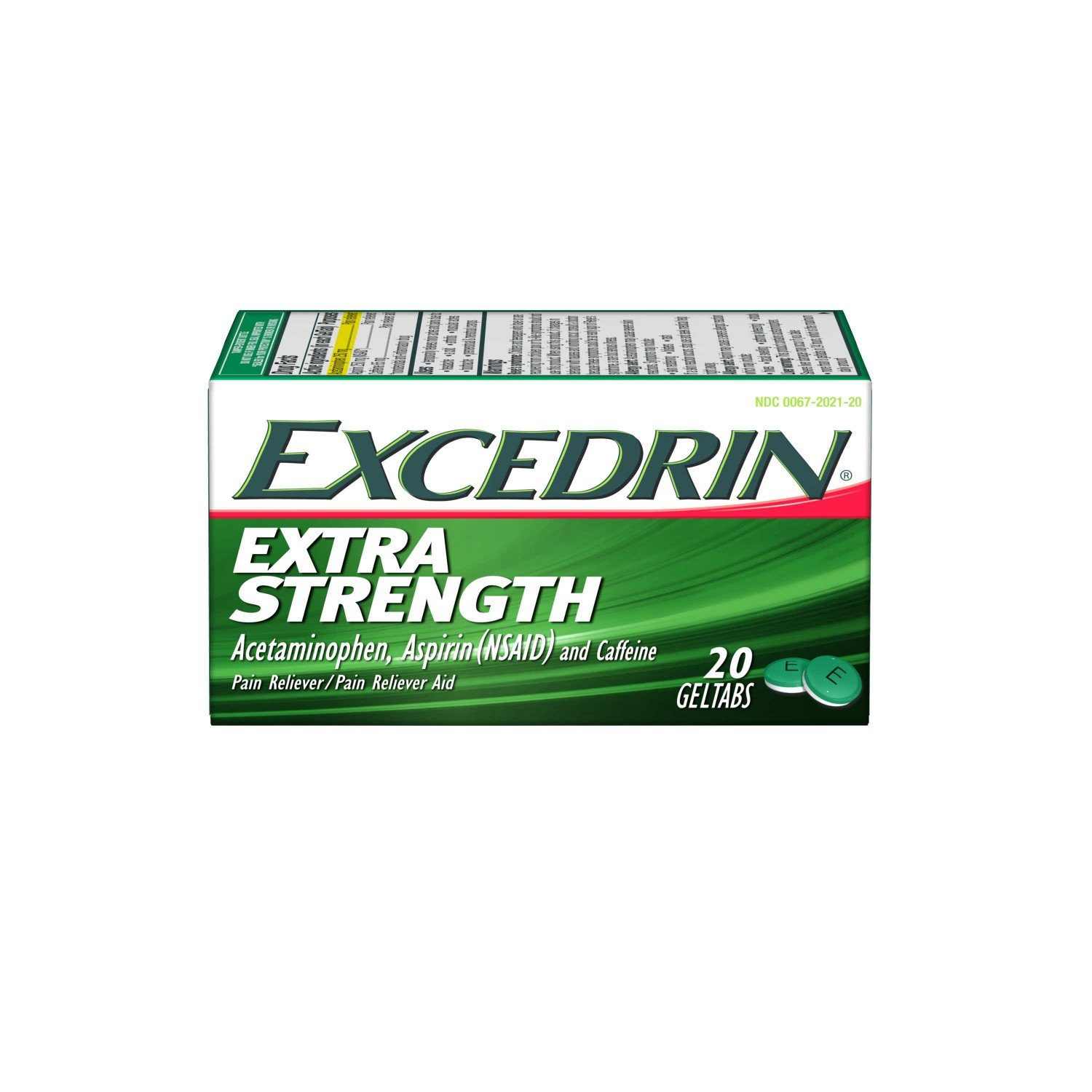 Excedrin Extra Strength Geltabs for Headache Pain Relief, 20 count