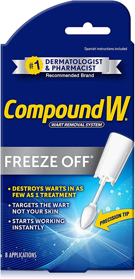 Amazon Com Compound W Freeze Off Wart Removal 8 Applications Health Personal Care