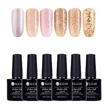 Amazon.com   UR SUGAR 7.5ml Glitter Gel Nail Polish Set 8fe8dc9ea8ff