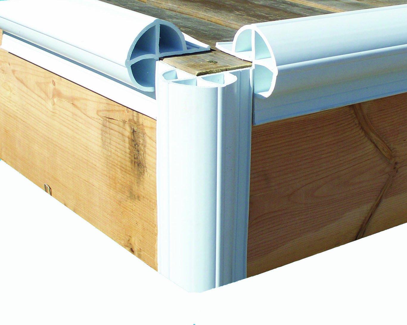 Dock Edge + Inc. Premium PVC Dock Bumper Corner Edge Profile, 6-8-Feet Sections (48-Feet, White), Pack of 6