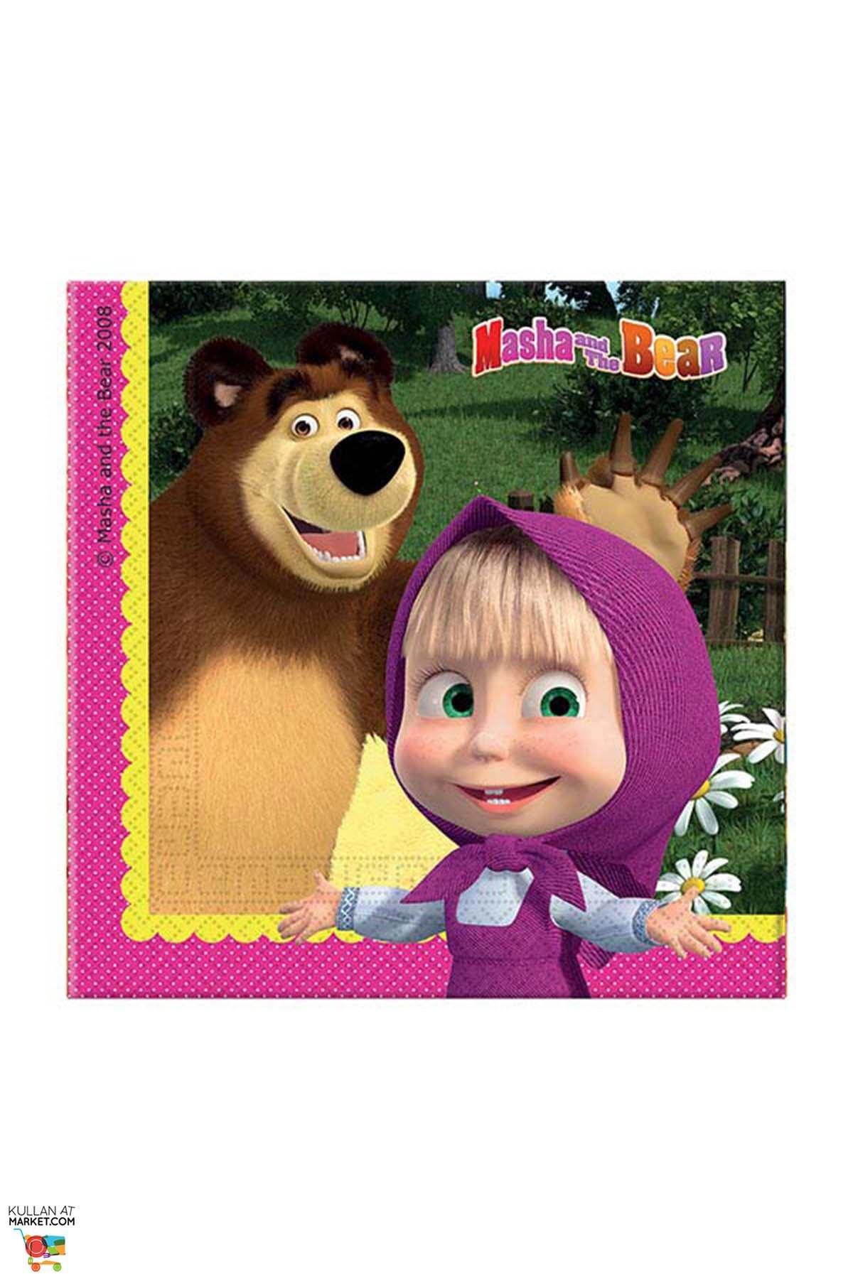 Masha and The Bear Napkins (Pack of 20)