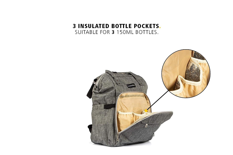 kaybaby grande bolsa de pañales, pañales mochila con Bonus cambiador | resistente | multifuncional | cómodo | ideal para viajes | elegante | Unisex: ...