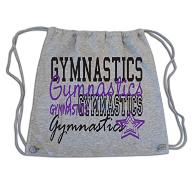Amazon.com: Sports Katz Drawstring Bag Gymnastics Gray: Clothing