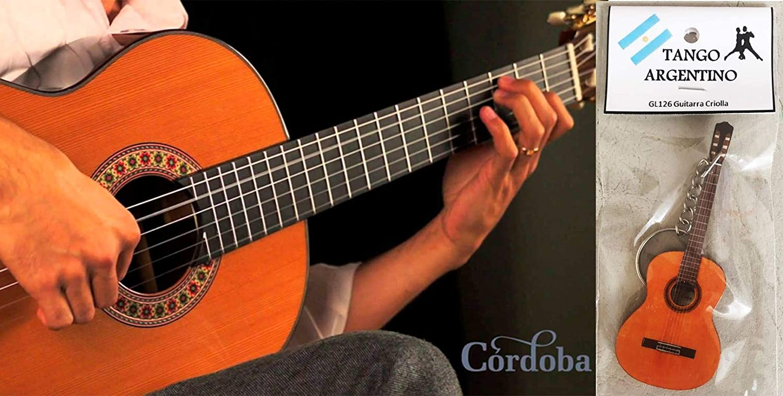 Llavero clásico de Guitar/Guitarra Criolla Tango Argentino: Amazon ...