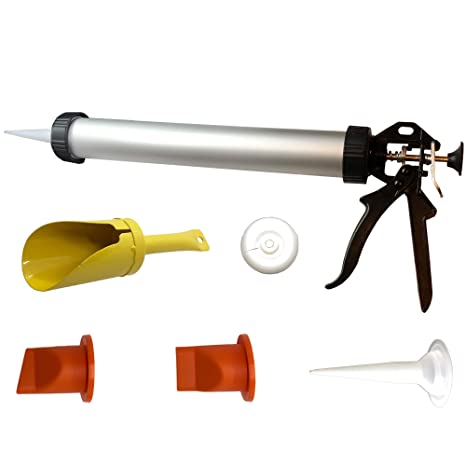 Amazon.com: HILKA MORTAR & GROUTING POINTING GUN – Tubo de ...